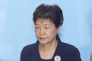 [서울포토] 재판 마치고 야윈 박근혜 전 대통령