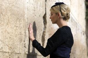 [포토] 감출 수 없는 세련美... '통곡의 벽' 찾은 트럼프家 여인들