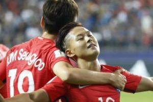 U-20 한국-아르헨티나, 전반 18분 이승우 선제골로 1-0 리드