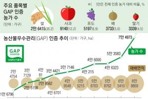 안전 농산물 'GAP인증' 농가 절반 확대