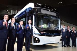 한번 충전에 290㎞… 현대차 전기버스 '일렉시티' 공개