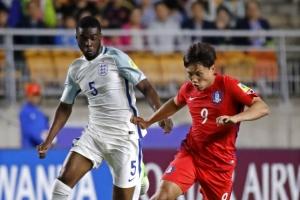 U20월드컵 한국, 잉글랜드와 전반전 0-0 종료