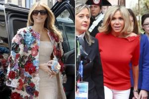 5700만원짜리 재킷 VS 흰색 스키니…'극과 극' G7 영부인 패션