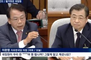 """이완영 """"국정원이 한 ****여명 됩니까?"""" 직원수 언급 논란"""