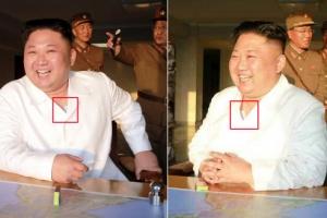 北 김정은 양쪽 가슴에 파스형 부착물 눈길