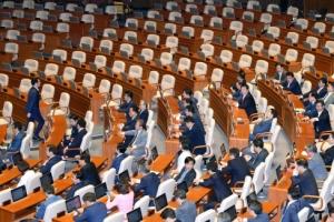 [서울포토] 국무총리인준안 표결처리 자유한국당 의원들 불참