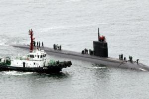 [포토] 미국 핵 잠수함 '샤이엔' 부산 입항