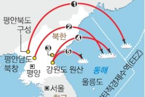 순항미사일 서해 함정까지 위협 … 北, ICBM만 남았다