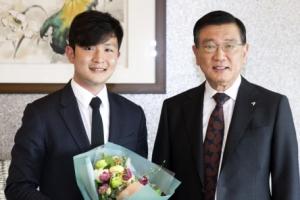 박삼구 회장, 피아니스트 선우예권 격려