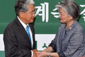 임명 반대하던 국민의당 찾은 강경화 외교
