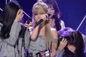 티아라, 5년 만에 음악방송 1위…'방송사고급' 오열