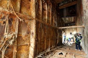 세월호 내부 1162일 만에 언론 공개… 처참한 객실과 화물칸