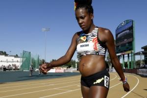 [포토] 임신 5개월에 대회 출전한 'D라인의 육상선수'