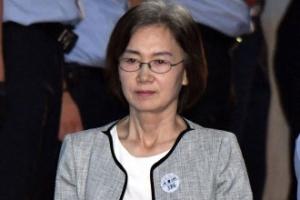 [서울포토] 굳은 표정의 최경희 전 이대 총장