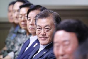 [서울포토] 현무2 탄도미사일 발사 참관한 문재인 대통령