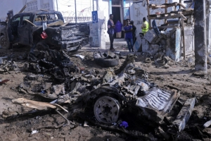 [포토] 소말리아 수도서 자폭 테러 발생…5명 사망
