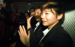 인사하는 미모의 북한 여…