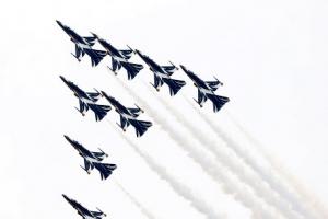 '서울 하늘에 전투기'…공군 특수비행팀 블랙이글스 에어쇼