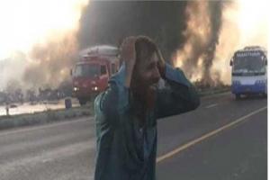 파키스탄 유조차 화재로 100여명 이상 사망…250여명 사상자 발생(종합)