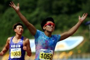 김국영 10초07, 이틀 만에 100m 한국 신기록…'런던 티켓' 확보