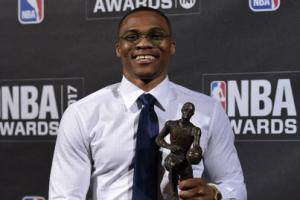 [포토] 미국 프로농구 올해의 MVP는 '러셀 웨스트브룩'