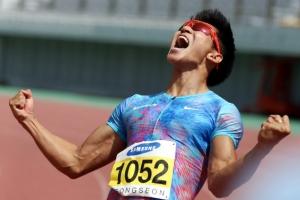 김국영 10초07…이틀 만에 한국新으로 '런던 티켓' 획득