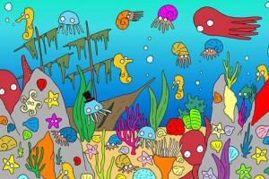 [그림퍼즐] 해양 생물 중 헤엄치는 물고기는 어디에?