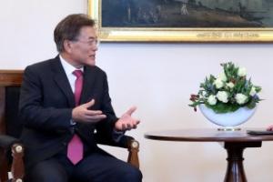 """文대통령-슈타인마이어 獨대통령 회담…""""모든 수단 활용 비핵화"""""""