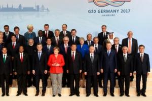 """G20 정상들, 비공개 회의서 북한 도발 논의…메르켈 """"큰 우려 표명"""""""
