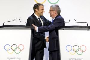 [포토] '2024 올림픽 개최는 파리에서'… 유치 나선 마크롱 대통령