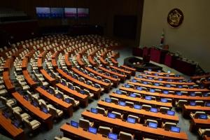 [서울포토] 야3당 불참 통보에 국회 본회의 무산