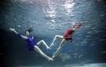 물속 '롱다리 하트'