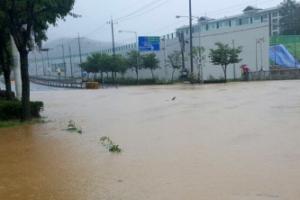 청주날씨 시간당 91.8㎜ 폭우…산사태 경보까지