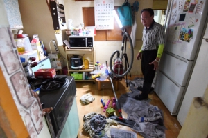 [서울포토] 청주 물폭탄 떨어진 집안