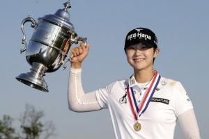 [포토] 'US여자오픈' 우승 트로피 들어올린 박성현