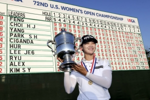 [포토] 박성현, US여자오픈 우승 기록 앞에서 '승리의 미소'