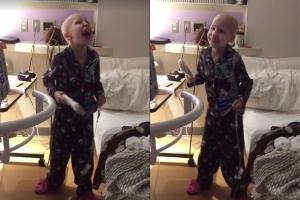 항암 치료 받는 7살 소녀의 댄스 화제