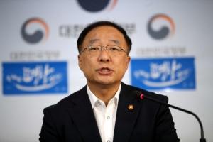 """홍남기 국조실장 """"캐비닛 문건 일부 작성 인정…회의결과 정리일 뿐"""""""