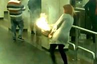 여성 가방 속 전자담배 폭발 순간 '아찔'