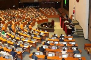 국회, 北 미사일 발사 규탄 결의안 가결