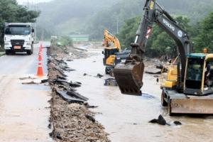 """충북 폭우 피해액 현재까지 약 200억원…""""계속 늘어날 것"""""""