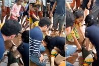 물에 빠진 아이 심폐소생술로 살리는 여성