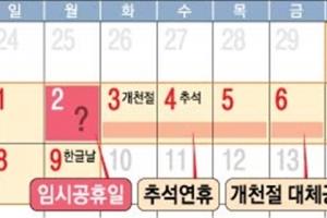 [100대 국정과제] 2022년까지 '대체공휴일제' 확대