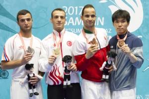 청각장애올림픽 유도 한명진, 하루에 메달 2개 획득