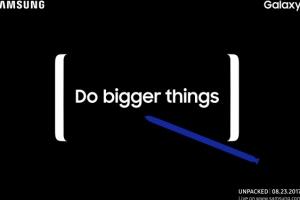 """""""더 큰 화면, 더 큰일 하세요""""… '갤노트8' 새달 23일 베일 벗는다"""