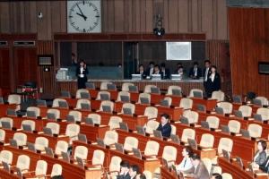 [속보] 추경안 표결 직전 한국당 퇴장…정족수 부족으로 처리 비상