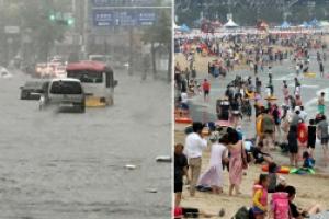 수도권 '물폭탄' 오후 소강상태...남부지방 폭염경보