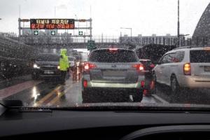 인천 침수 제2외곽순환도로 북항 터널…이틀째 양방향 통제