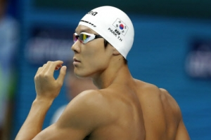 박태환, 자유형 200m 8위로 결승 티켓 '막차'