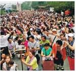 中베이징 한복판 6만명 시…